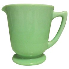 Jadeite McKee 4 Cup Measure, Depression Glass Pitcher