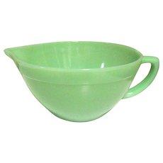 Fire King Jadeite Batter Bowl, Depression Glass