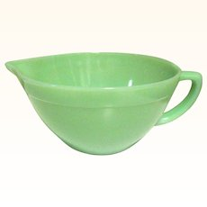 Fire King Jadeite Batter Bowl, Depression Glass
