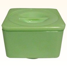 Jadeite McKee Covered Refrigerator Dish, Depression Glass