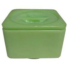 Jadeite McKee Covered Refrigerator Dish, Depression Glass