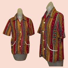Vintage Tiki Atomic Shirt / Cabana Wear 1950's