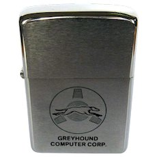 Greyhound Computer Corporation, Vintage Zippo Lighter, 70s