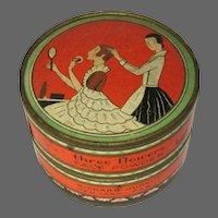 Vintage Powder Box, Three Flowers, Richard Hudnut, 1920's