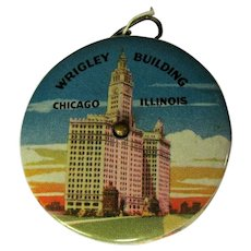 Vintage Wrigley Building Celluloid Tape Measure, Souvenir