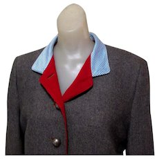 Stajan Wool Jacket, Top Quality Designer, One of a Kind.