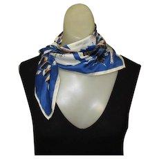 Vintage Silk Scarf, Paris Souvenir, Landmarks