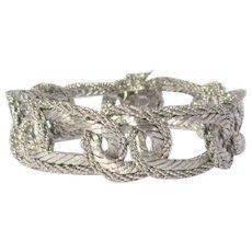 18K WG Chain Bracelet, 74.5 Grams, Vintage