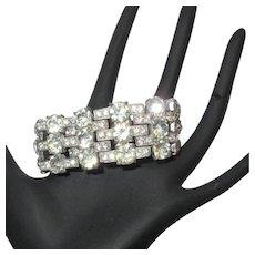 Staret Rhinestone Bracelet, Art Deco 1940's, Signed