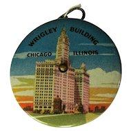 Vintage Wrigley Building Celluloid Tape Measure, Souvenir