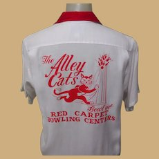 Vintage Bowling Shirt, 1972 Alley Cats Tournament