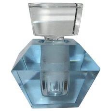 Deco Perfume Bottle, Hand Cut Crystal, 40's