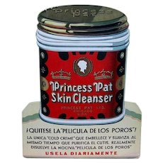 Vintage Art Deco Advertising Display, Princess Pat Cold Cream Spanish
