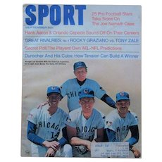 1969 Cubs, Vintage Sport Magazine, Banks, Santo, Williams, Durocher