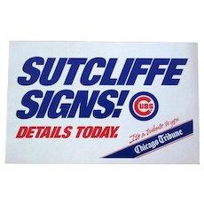 Rick Sutcliffe 1984 Chicago Tribune Poster, Sutcliffe Signs
