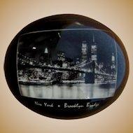 Brooklyn Bridge Souvenir, Vintage Paperweight