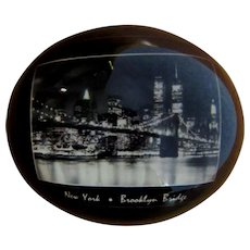 Brooklyn Bridge Souvenir, Vintage Paperweight