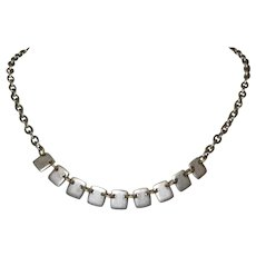 Vintage Necklace, Guess Silver Toned Chicklets