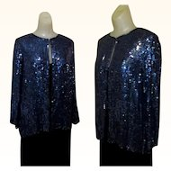 Sequinned Jacket, Vintage Holiday 80's Sparkle