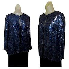 Sequinned Jacket, Vintage Holiday 80's Sparkle