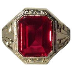 Ostby Barton 10K Gold Ring, Maltese Cross, Art Deco