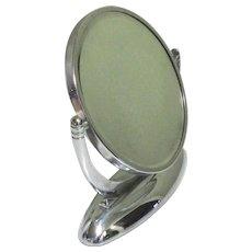 Art Deco Mirror, Vanity Make Up, Chrome Swivel