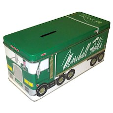 Vintage Marshall Fields Frango Tin, 1984 Delivery Truck Bank