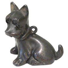 Vintage Scottie Dog, Bronze Figural with Collar