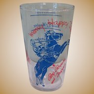 Roy Rogers & Trigger, Vintage Glass, Happy Trails