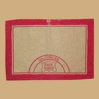 Rock Island Railroad, Californian Cloth Place mat, Authentic, Vintage Memorabilia