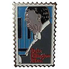 Duke Ellington Stamp Pin, Vintage 1986