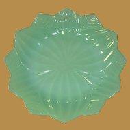 Fire King Jadite Lotus Petal Plate, Vintage Glass