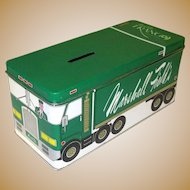 Vintage Marshall Field's Frango Tin, 1984 Delivery Truck Coin Bank