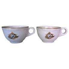 Fairmont Hotel Coffee Cups, Vintage Restaurant