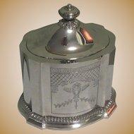 Vintage Silver Plated Tea Caddy, Godinger Silver Artist, Velvet Lined