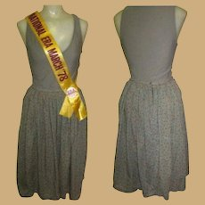 Vintage Skirt, Cotton Knife Pleated by Smythe