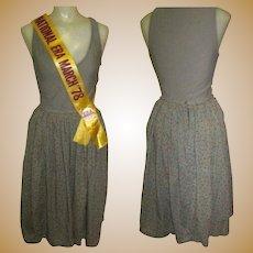 Vintage Skirt, Cotton Knife Pleated by Smythe