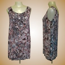 Vintage Silk Dress, Salt Dyed, Artist Made Tunic