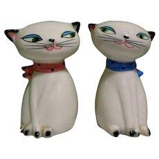 Cozy Kitten Shakers,  Vintage 50's Salt and Pepper, Japan