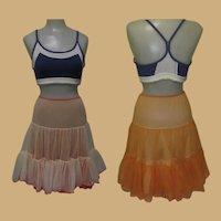 Vintage Crinoline, Half Slip 1950's Ruffles & Layers