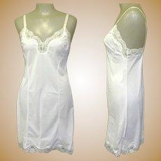 Vintage White Slip, Lace Trim, Perfectform, 34