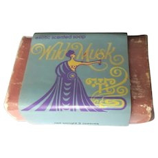 Wild Musk Soap, Vintage 1972, Pickwick Candle Co. Chicago
