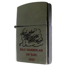 USAF 50's Lighter, Wold Chamberlain, Vintage Korean War, Beta One Hundred