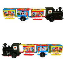 Vintage Toy Train, Tin Litho, Western Zig Zag Express