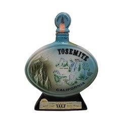 Yosemite California State Park  Whiskey Decanter, Vintage 1967 Jim Beam