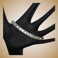 Deco Crystal Square Cut Bracelet, 30's in line Link