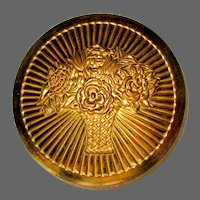 Cara Nome Rouge Compact, Vintage 30's 40's Langlois  Gold Toned Deco