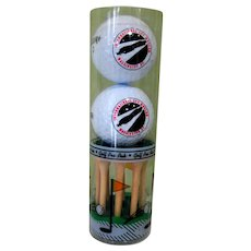 International Spy Museum Golf Balls & Tees, Vintage Discontinued