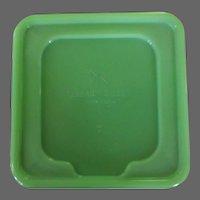 Jadeite Canister Lid, Dunbar Gibson, New York, Vintage Depression Glass