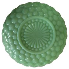 Jadeite Bubble Bowl Fire King Serving Bowl, Vintage Anchor Hocking